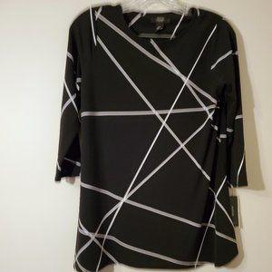 Black and White Geometric Top NWT